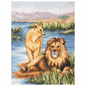 Lions - Anchor Cross Stitch Kit PCE964