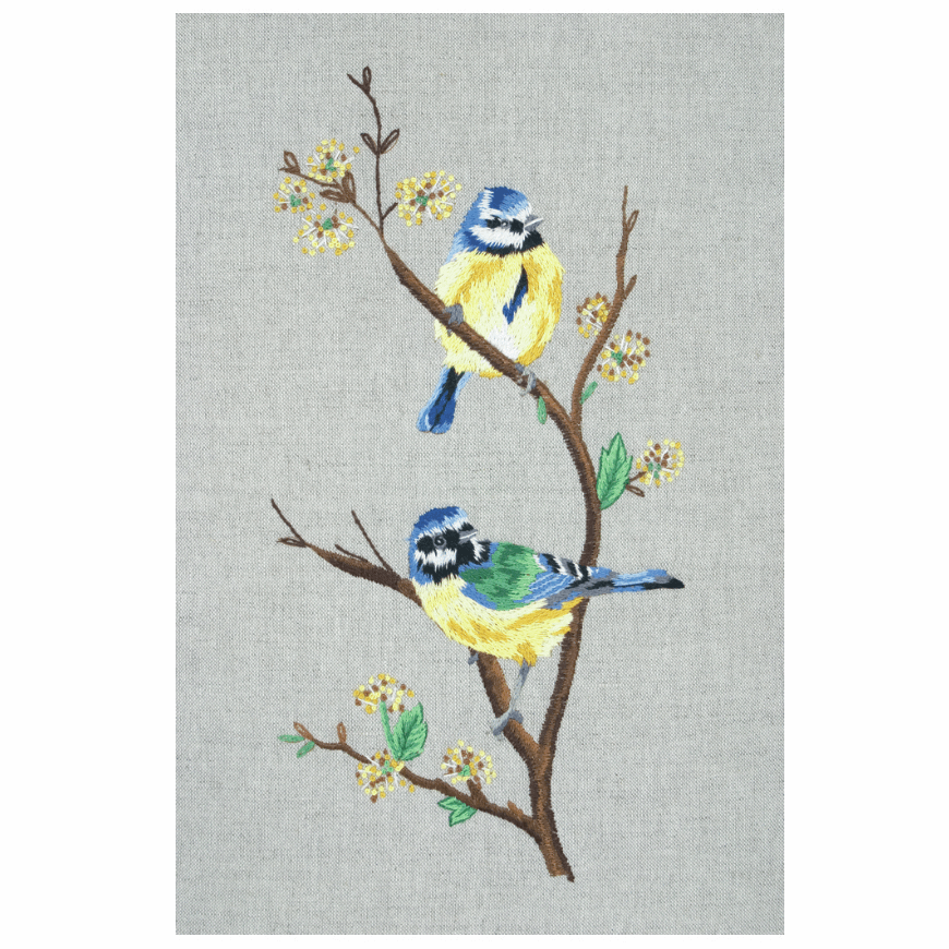 Blue Tits - Birds - Embroidery Kit PE650