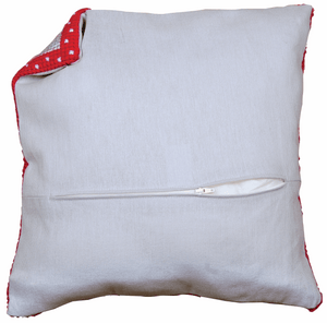 "Cushion Back With Zipper  45 x 45cm (18"" x18"") - Grey PN-0170420"