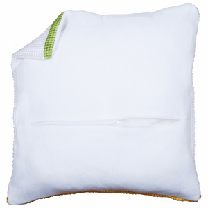 "Cushion Back With Zipper  45 x 45cm (18"" x18"") - White PN-0174415"