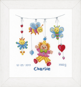 Clown Delight Birth Record -  Vervaco Counted Cross Stitch Kit PN-0021813