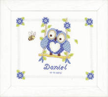 Load image into Gallery viewer, Owl Birth Record -  Vervaco Counted Cross Stitch Kit PN-0144317