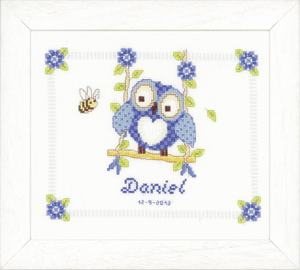 Owl Birth Record -  Vervaco Counted Cross Stitch Kit PN-0144317