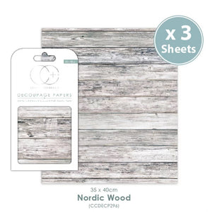 Craft Consortium Nordic Wood - Decoupage Papers Set (3 Sheets)