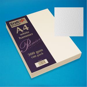 Craft UK A4 Ivory Smooth Card (100 Sheets)
