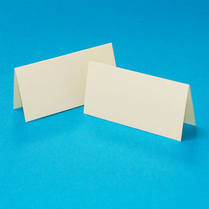 Craft UK Table Setting Place Cards Ivory (50 Pack) W134