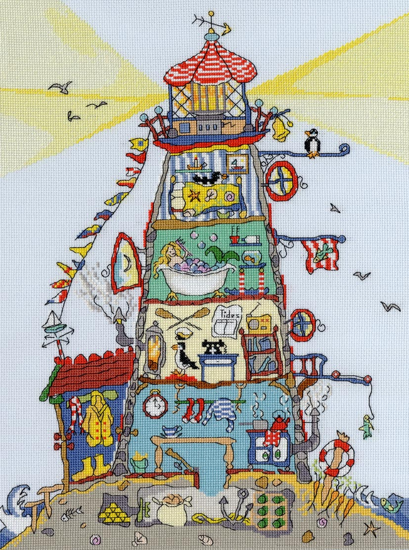 Cut Thru' Lighthouse -Bothy Threads Cross Stitch Kit XCT1