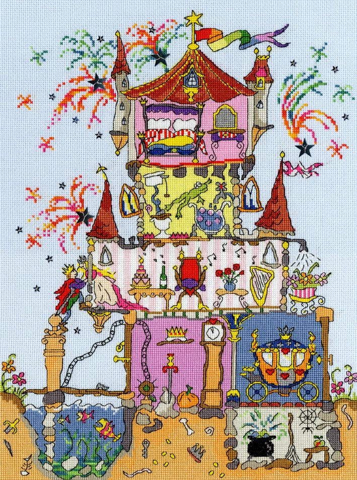 Cut Thru' Princess Palace -Bothy Threads Cross Stitch Kit XCT2