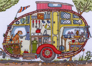 Cut Thru' Vintage Caravan -Bothy Threads Cross Stitch Kit XCT21