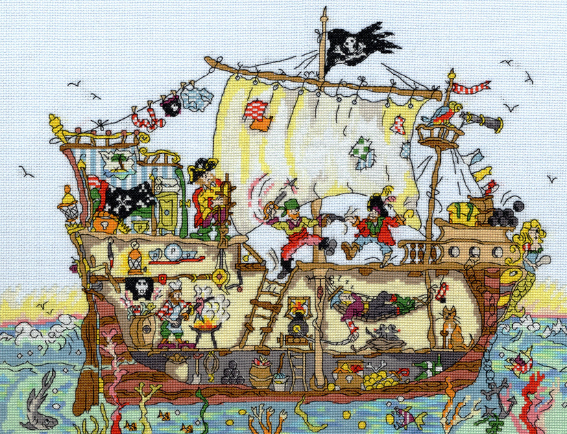 Cut Thru' Pirate Ship -Bothy Threads Cross Stitch Kit XCT7