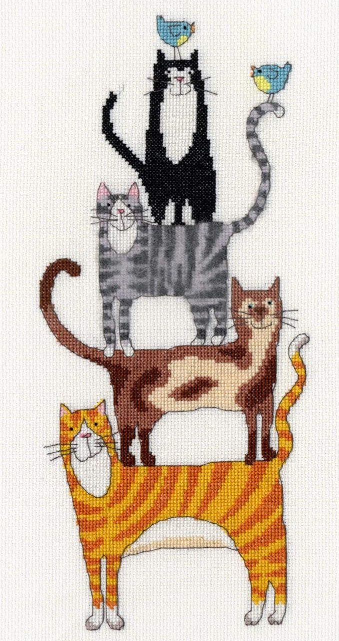 Cat Stack - Bothy Threads Cross Stitch Kit XKM1