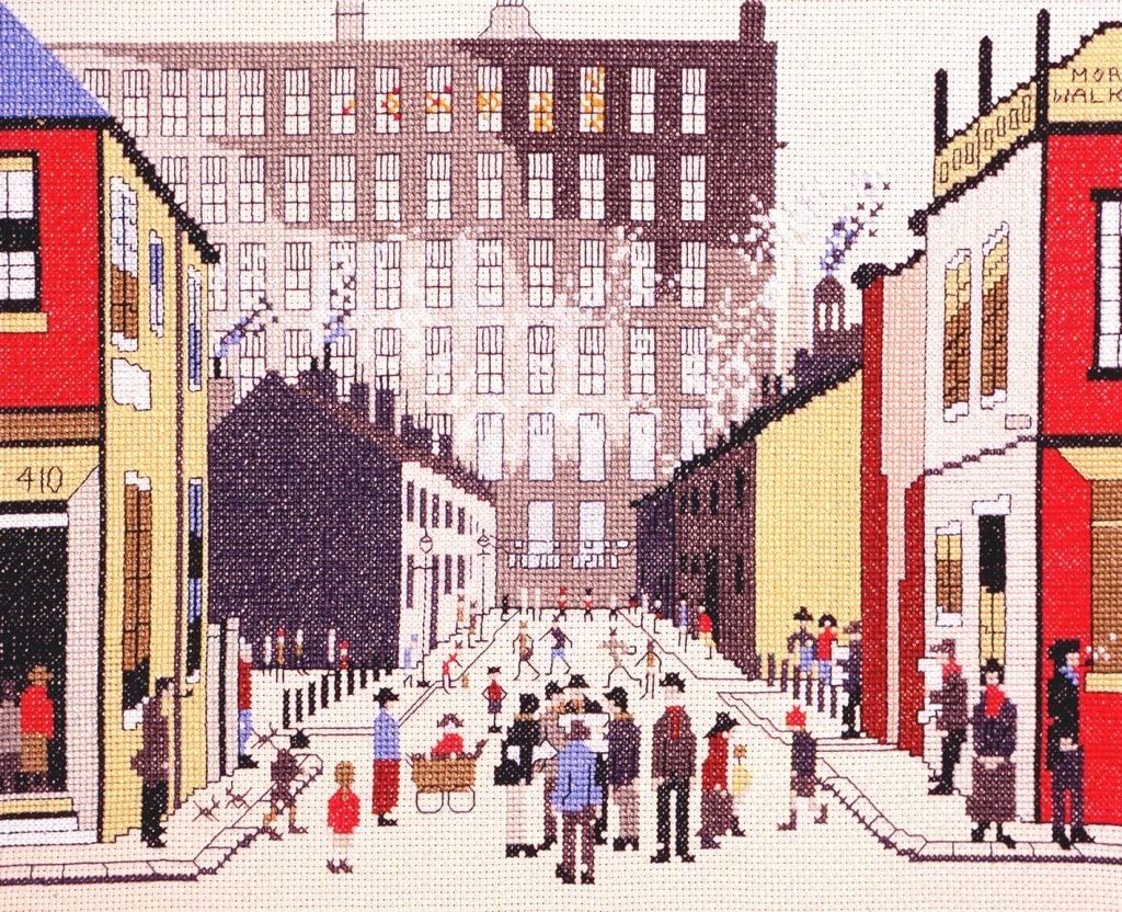 Street Scene - L.S. Lowry - Bothy Threads Cross Stitch Kit XLC9