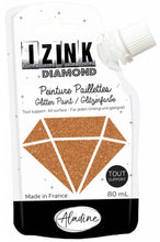 Load image into Gallery viewer, Aladine Izink Diamond Glitter Paint Copper 80ml. (80837)
