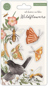Craft Consortium At Home in the Wildflowers Clear Stamps Bees & Butterflies (CCSTMP037)