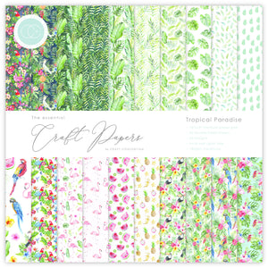 Craft Consortium The Essential Craft Papers 12x12Inch Pad -  Tropical Paradise  (30 Sheets)
