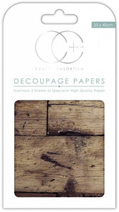 Craft Consortium Oak Top Decoupage Papers CCDECP244