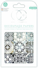 Load image into Gallery viewer, Craft Consortium Ornate Tile Decoupage Papers (3 Sheets) CCDECP342