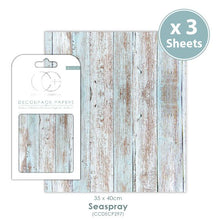 Load image into Gallery viewer, Craft Consortium Seaspray Decoupage Papers (3 Sheets) CCDECP297