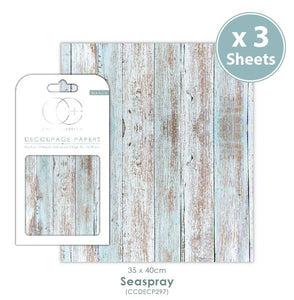 Craft Consortium Seaspray Decoupage Papers (3 Sheets) CCDECP297