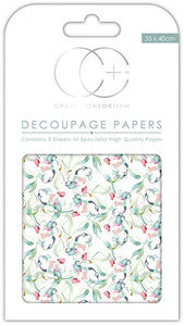 Craft Consortium Sun Kissed Decoupage Papers CCDECP236