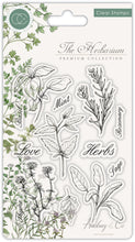 Load image into Gallery viewer, Craft Consortium The Herbarium - Clear Stamp Set - Herbs - Clear Stamp Set CCSTMP011