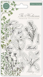 Craft Consortium The Herbarium - Clear Stamp Set - Herbs - Clear Stamp Set CCSTMP011