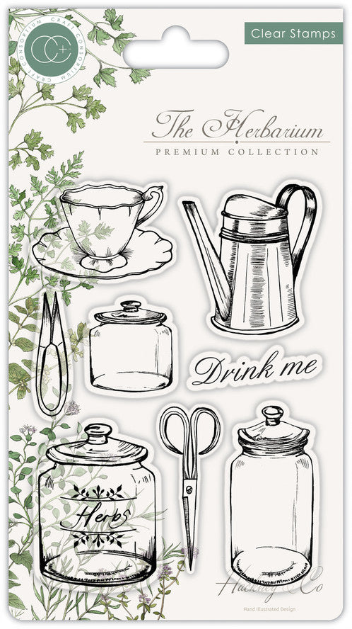Craft Consortium The Herbarium - Clear Stamp Set - Utensils - Clear Stamp Set CCSTMP012