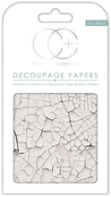 Load image into Gallery viewer, Craft Consortium White Crack Texture Decoupage Papers (3 Sheets) CCDECP156