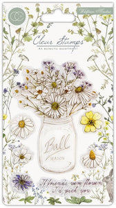 Craft Consortium Wildflower Meadow - Fresh Cut Clear Stamp Set CCSTMP006