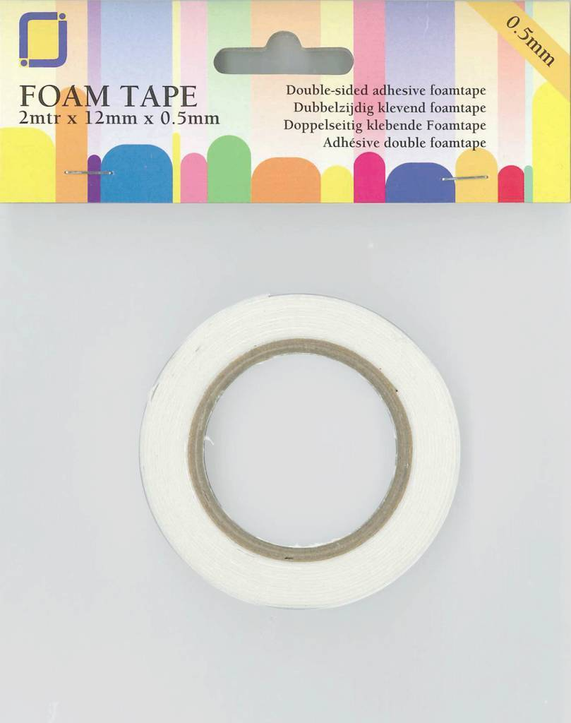 Double Sided Foam Tape 2m x 12mm x 0.5mm by JEJE Produkt 3.3005
