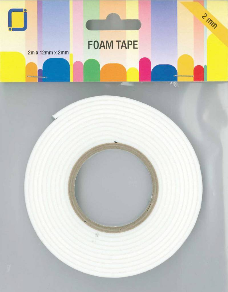 Double Sided Foam Tape 2 m x 12 mm x 2 mm by JEJE Produkt 3.3000