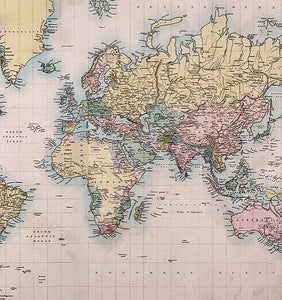 Craft Consortium World Map Decoupage Papers (3 Sheets) CCDECP081 -|