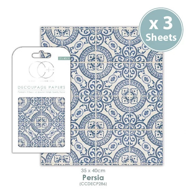 Craft Consortium Persia - Decoupage Papers Set (3 Sheets)