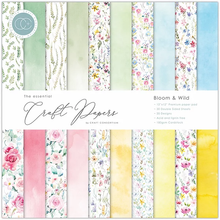 Load image into Gallery viewer, Craft Consortium The Essential Craft Papers 12x12Inch Pad -Bloom & Wild CCEPAD009