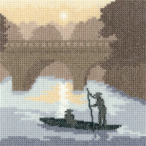 On the River - Heritage Crafts Cross Stitch Kit PSOR1280