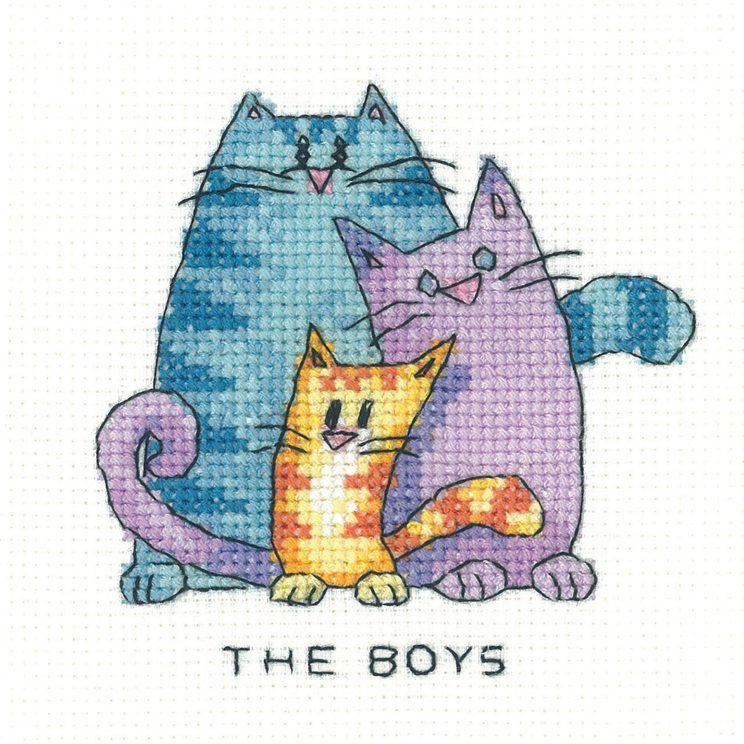 The Boys- Heritage Crafts Cross Stitch Kit SHTB1405