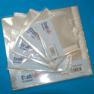 "Craft UK Cello Bags 4""x4"" 50 Pack"