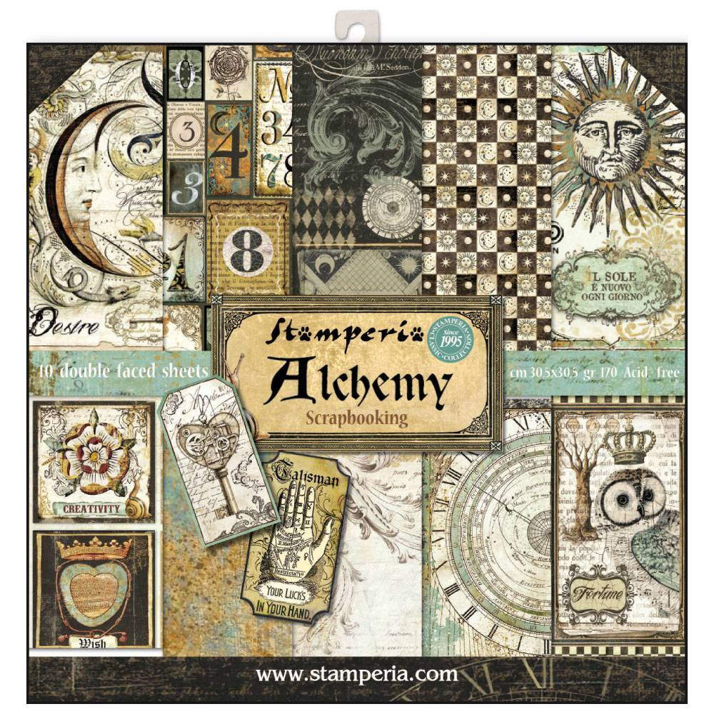 Stamperia Alchemy 12x12 Inch Paper Pack SBBL34 for Scrapbooking