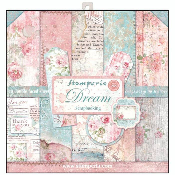 Stamperia Dream 12x12 Inch Paper Pack SBBL27 for Scrapbooking