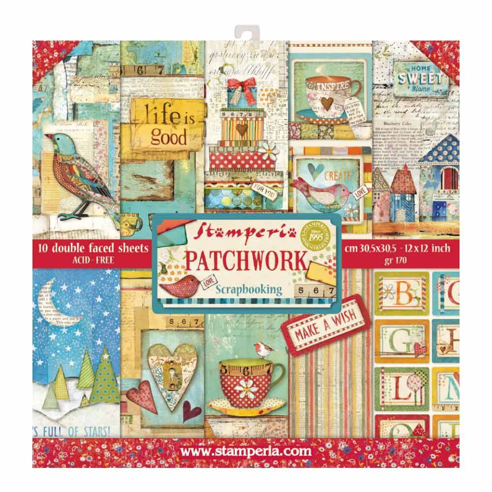 Stamperia Patchwork 12x12 Inch Paper Pack SBBL49 for Scrapbooking