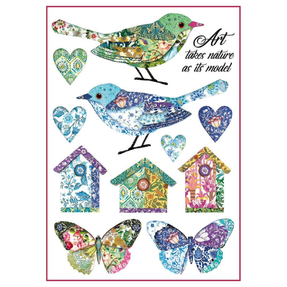Stamperia Rice Paper A4 Birds & Fantasy Nests DFSA4297 for Decoupage