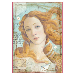 "Stamperia Rice Paper A4 Botticelli ""The Birth of Venus"" DFSA4281 for Decoupage"