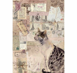 Stamperia Rice Paper A4 Cat DFSA4377 for Decoupage -|