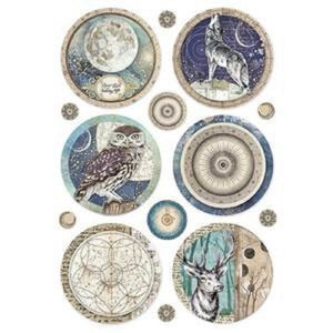 Stamperia Rice Paper A4 Cosmos Sphere DFSA4385 for Decoupage