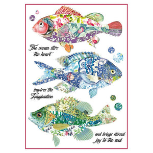 Stamperia Rice Paper A4 Fantasy Fishes DFSA4296 for Decoupage -|