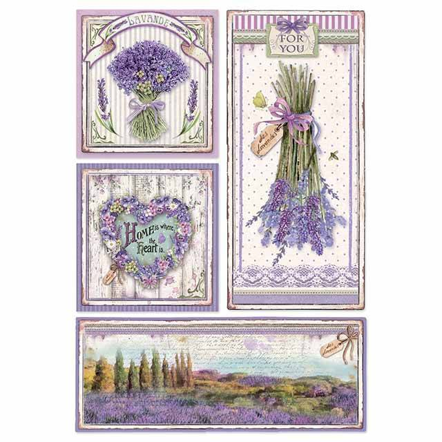 Stamperia Rice Paper A4 Provence Frames DFSA4364 for Decoupage