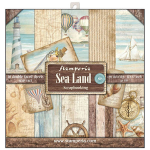 Stamperia Sea Land 12x12 Inch Paper Pack SBBL37