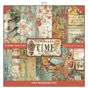 Stamperia Time is an Illusion 12x12 Inch Paper Pad SBBL33 for Scrapbooking