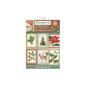 Stamperia Winter Botanic Scrapbooking Cards SBBPC06