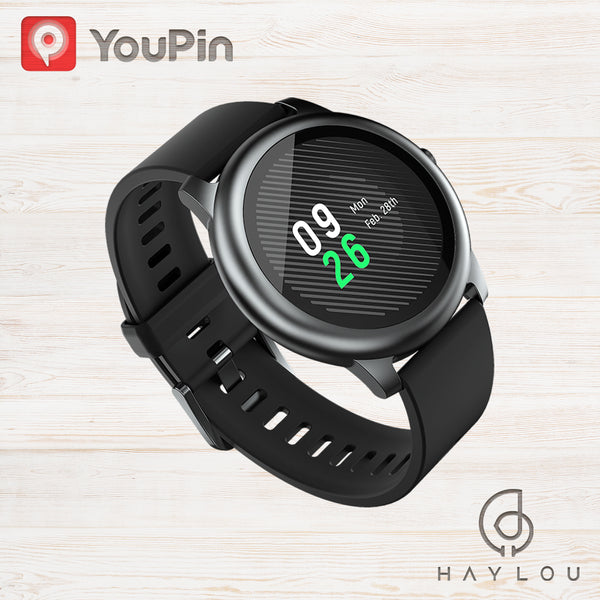 YouPin Haylou Solar LS05 Smart Watch Sports Metal Heart Rate Sleep Monitor IP68 Waterproof iOS Android Global Version Applicable